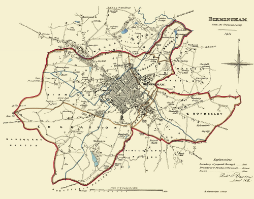 Image of Birmingham in 1831