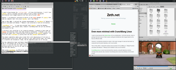 Even more minimal with CrunchBang Linux — Zeth net