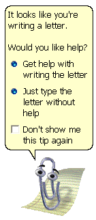 Image of Clippy, the Microsoft Office Assistant