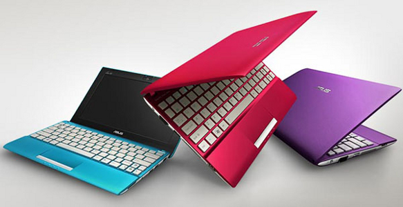 Image of a coloured Asus netbooks