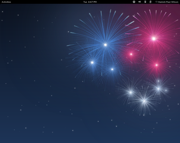 Image of the Fedora 17 desktop