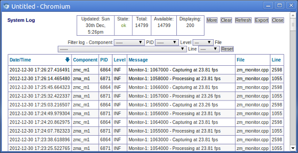 Setup Zoneminder Ubuntu Server herunterladen